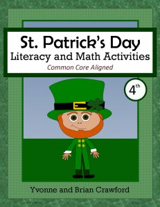 St. Patrick's Day Literacy and Math Activities for Fourth Grade