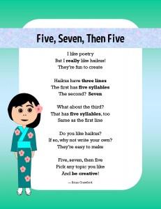 Haiku poetry poster