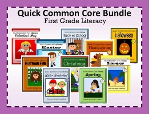 Quick Common Core Literacy Bundle for First Grade