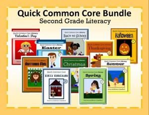 Quick Common Core Literacy Bundle for Second Grade