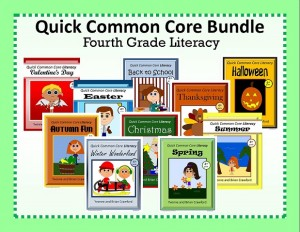 Quick Common Core Literacy Bundle for Fourth Grade