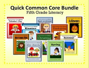 Quick Common Core Literacy Bundle for Fifth Grade