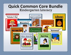Quick Common Core Literacy Bundle for Kindergarten