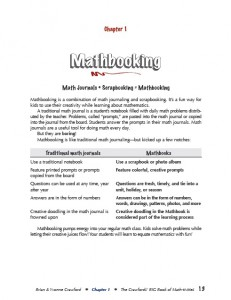 Common Core Mathbooking chapter page