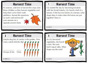 Common Core Task Cards chapter page