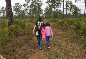 Hiking in the Hal Scott Preserve near Orlando