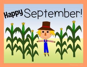 A September classroom poster