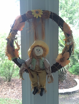 An autumn wreath