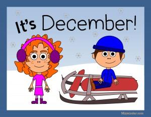 A December classroom poster