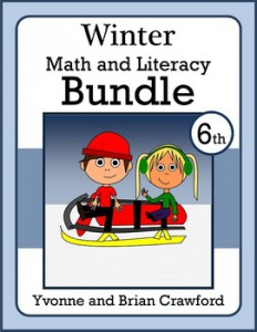 Winter Math and Literacy Bundle - Sixth Grade