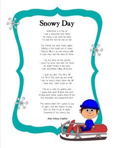 Snowy Day poem