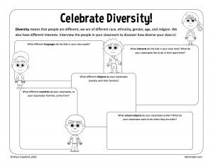 Celebrate diversity classroom activity