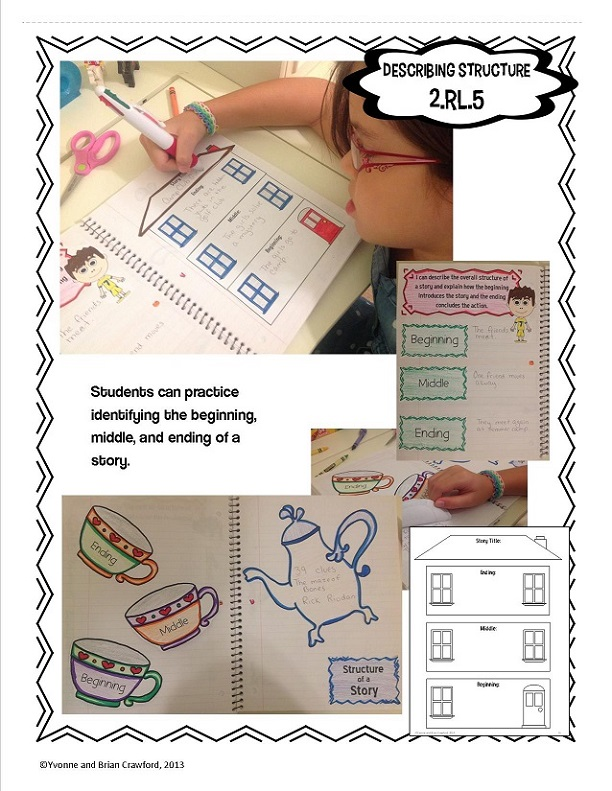 2nd grade hands on interactive notebook reading sample2
