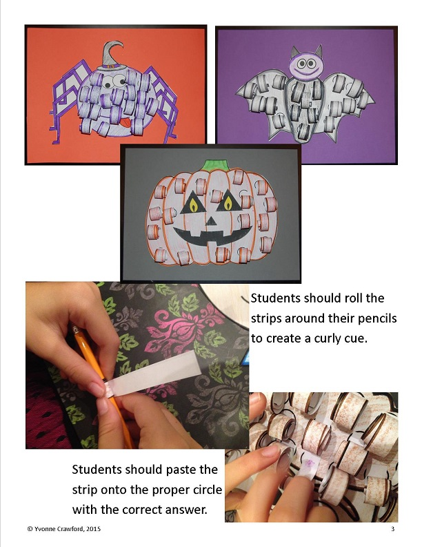 Halloween addition and subtractionart 2
