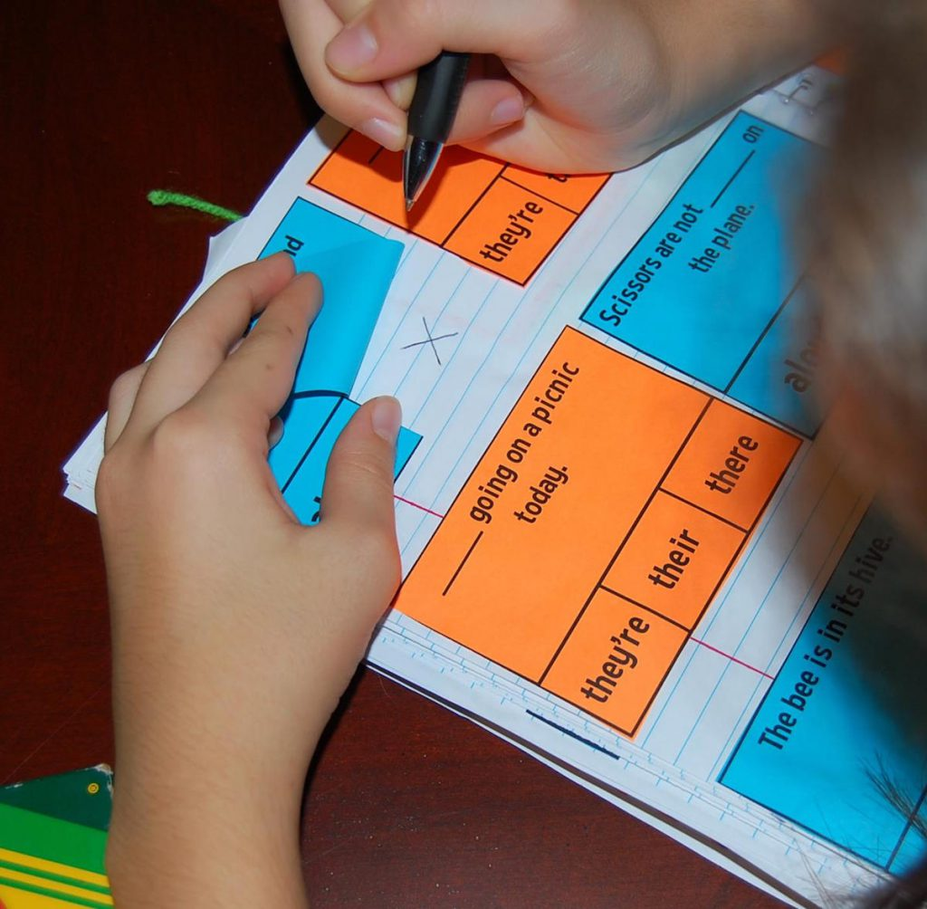 Interactive notebook word activity