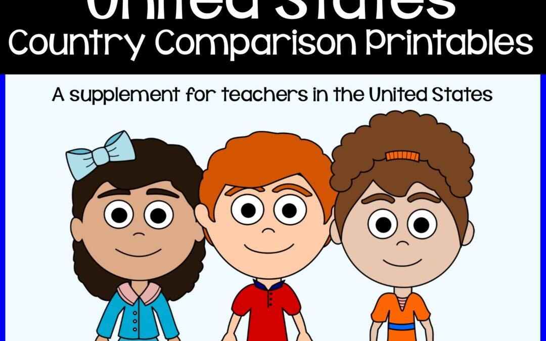 Free country comparison activity for kids in the United States