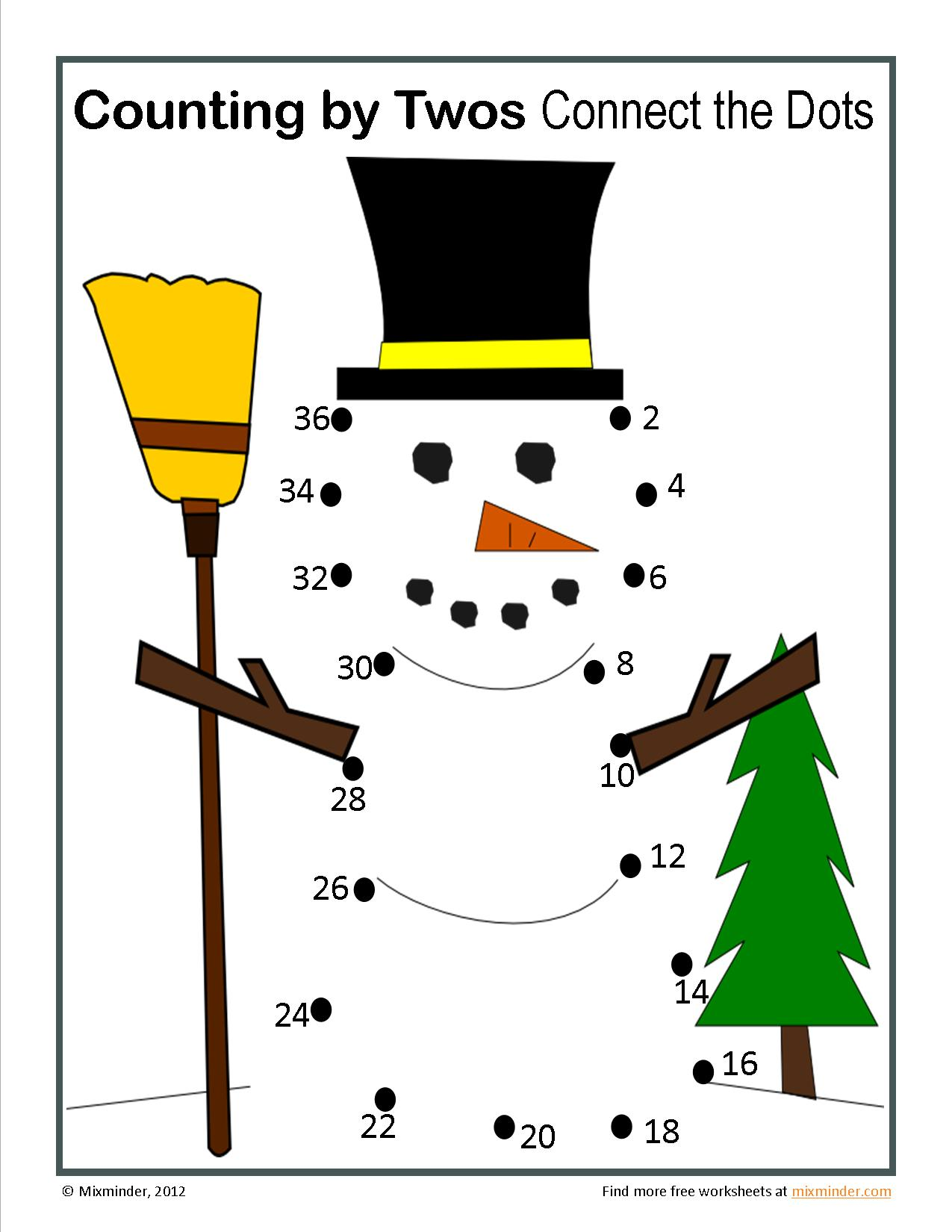 Winter Counting by Twos Connect the Dots