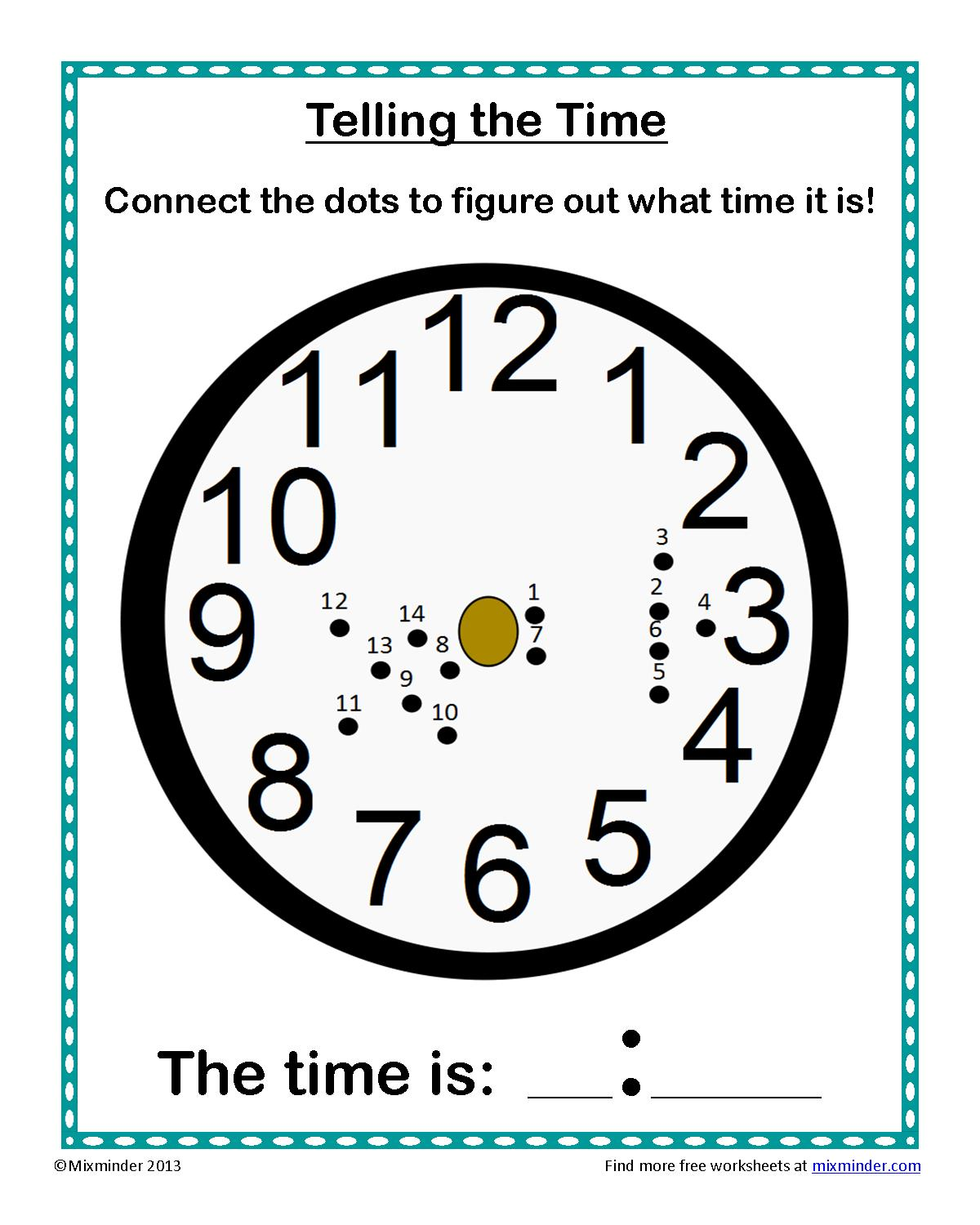 Telling Time Connect the Dots