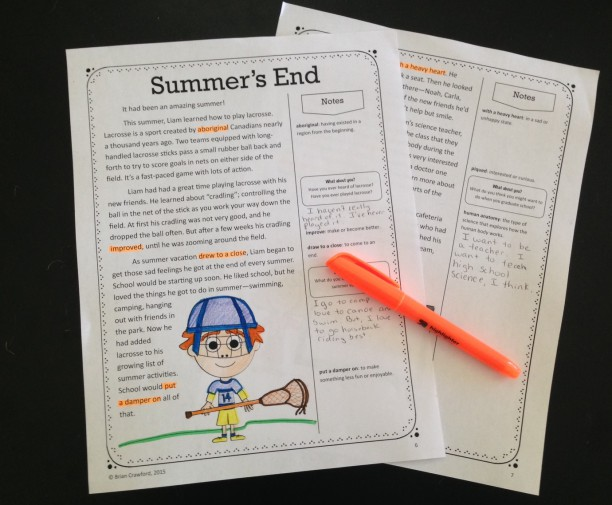 Back to School Close Reading